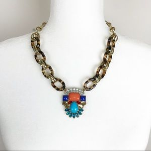 BaubleBar Statement Gold & Tortoise Shell Necklace
